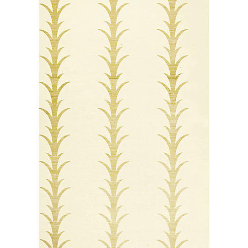Acanthus Stripe Wallpaper, Filigree