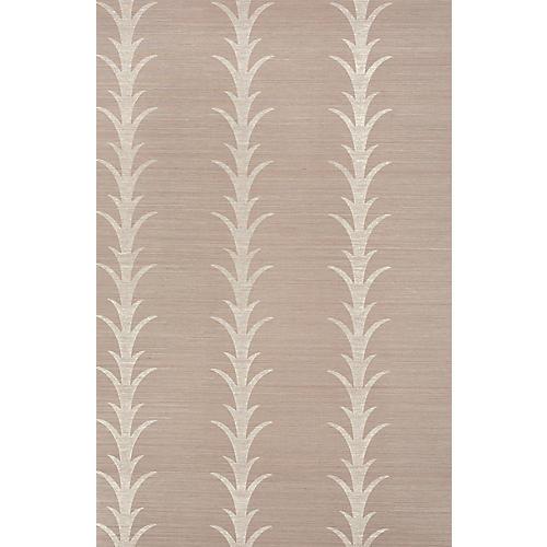 Acanthus Stripe Wallpaper, Haze