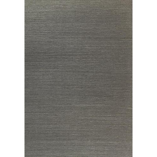 Haruki Sisal Wallpaper, Charcoal