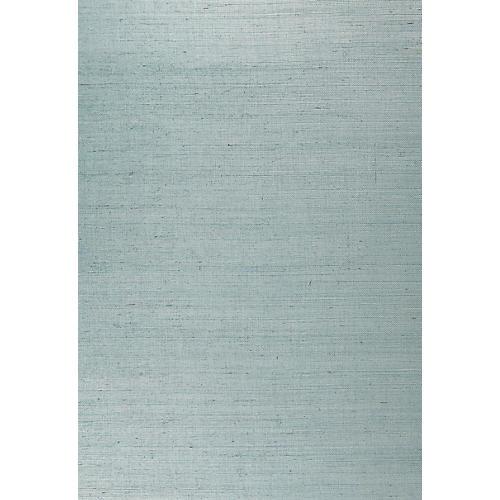 Suwon Sisal Wallpaper, Silver Surf