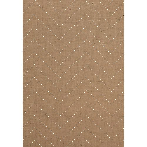 Colton Chevron Wallpaper, Natural/Silver