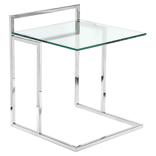 Helen Tray Table, Silver