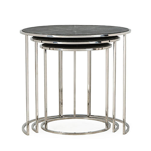 Asst. of 3 Nathan Nesting Tables, Charcoal