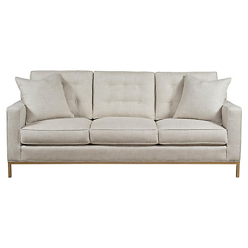 Copeland Sofa, Ivory Linen