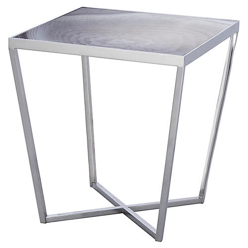 Jaxson Side Table, Taupe/Gray
