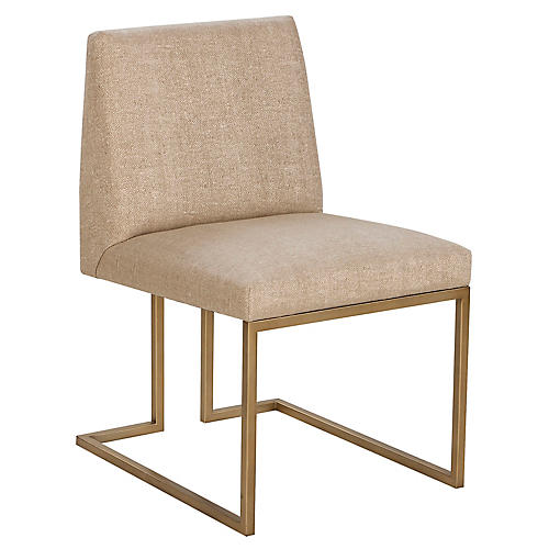 Ashton Side Chair, Hemp Sunbrella