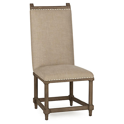 Winemakers Side Chair, Oatmeal Linen