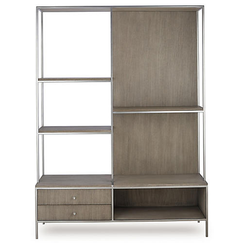 Paxton Bookshelf, Gray Oak