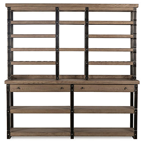 Winemakers Bookshelf, Weathered Gray