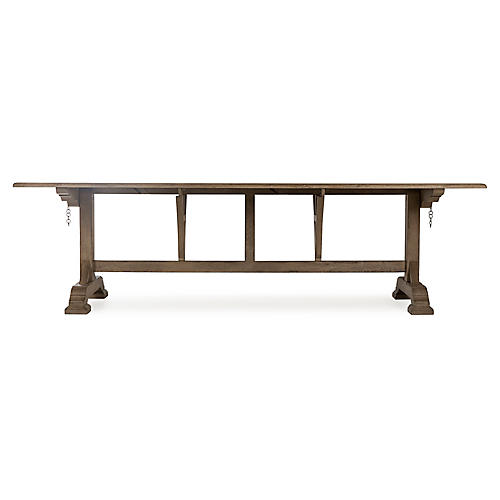 Winemakers Dining Table, Weathered Gray