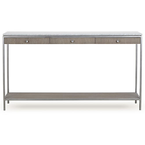 Paxton Console, White Marble