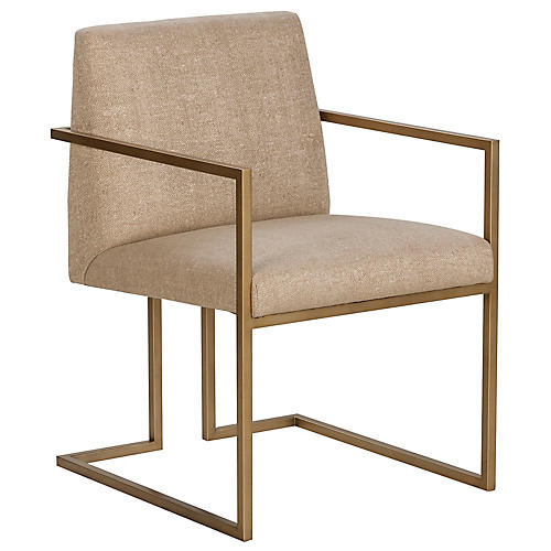Ashton Armchair, Hemp Sunbrella