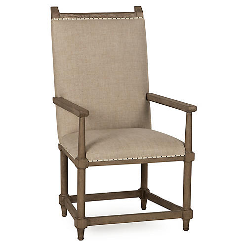 Winemakers Armchair, Oatmeal Linen