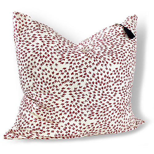 Normandy Arrows 26x26 Pillow, Red