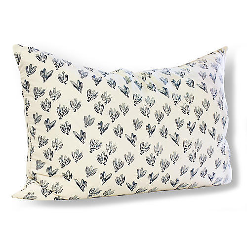 Normandy Bows 24x36 Wide Pillow, Blue Linen
