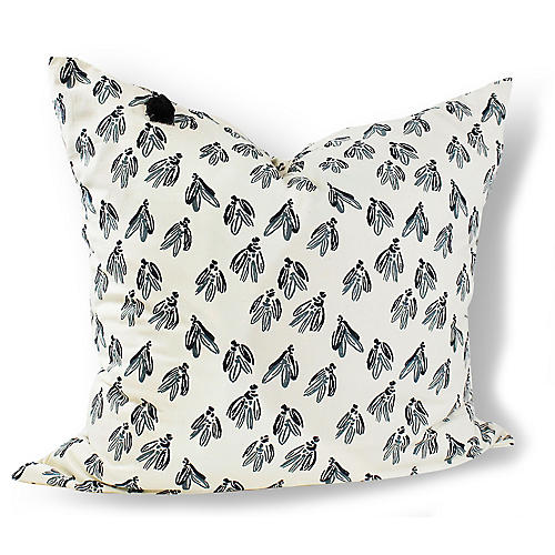 Normandy Bows 26x26 Pillow, Blue