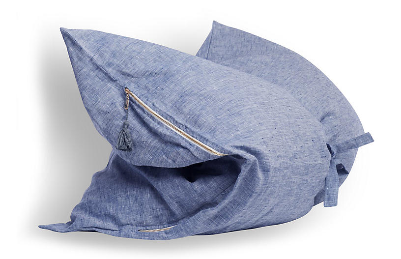 Solid Mini Throwbed, Blue
