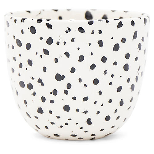 Finca Speckled Planter, White/Black