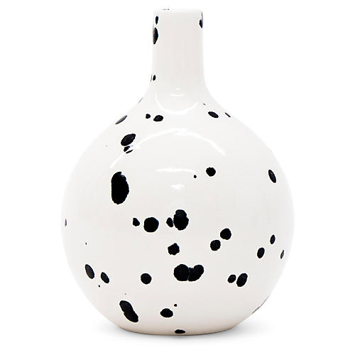 "5"" Slope Vase, Black/White"