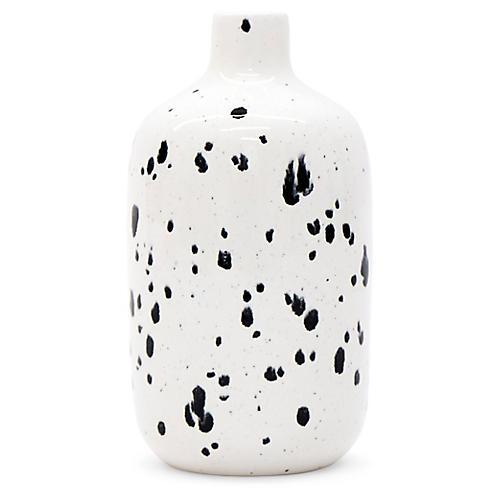 "7"" Guana Vase, Black/White"