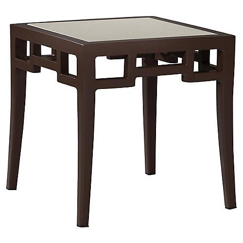 Redington Glass Side Table, Brown