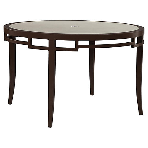 Redington Round Dining Table, Brown
