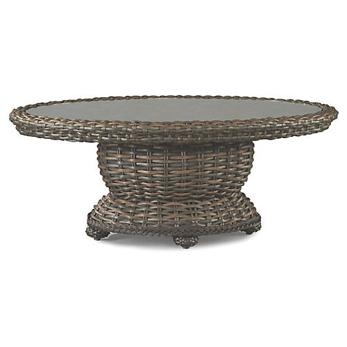 South Hampton Oval Coffee Table, Brown