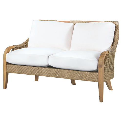Edgewood Loveseat, Natural Sunbrella