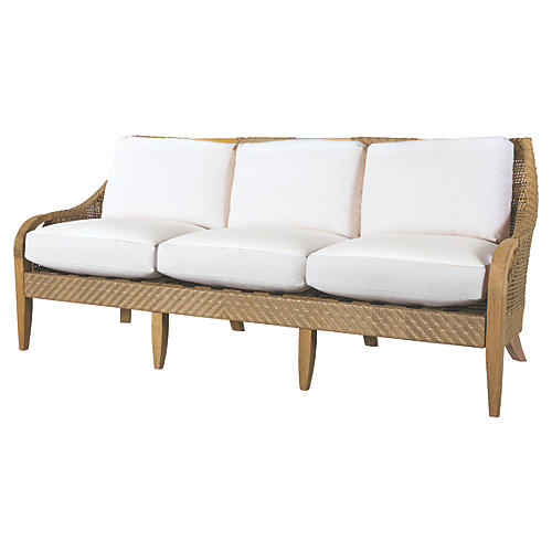 Edgewood Sofa, Natural Sunbrella