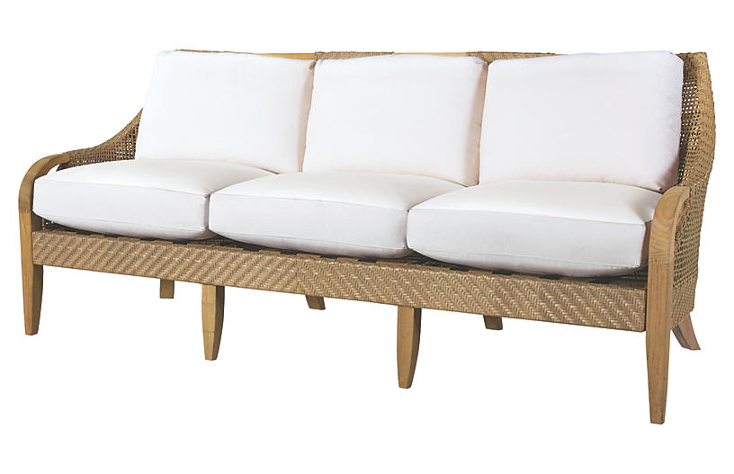 Edgewood Sofa, Natural Sunbrella