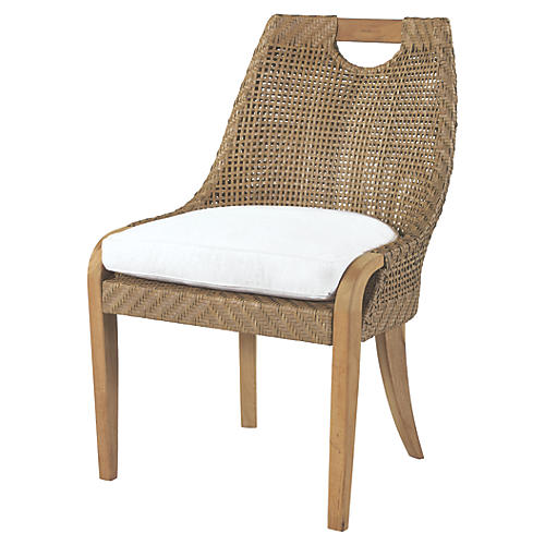 Edgewood Side Chair, Natural Sunbrella