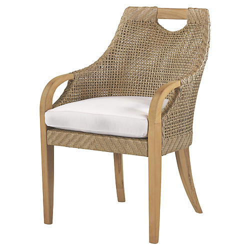 Edgewood Armchair, Natural Sunbrella