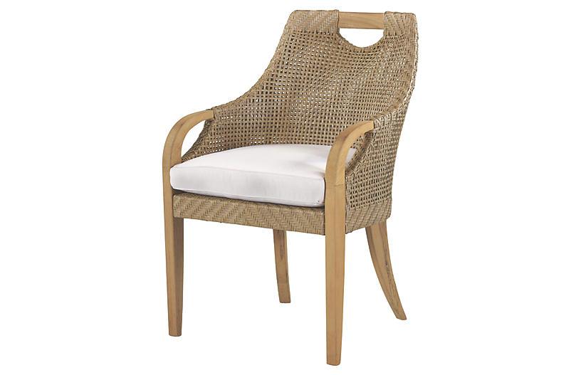 Edgewood Armchair, Natural Sunbrella