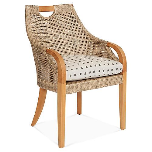 Edgewood Armchair, Gray Kuno Sunbrella