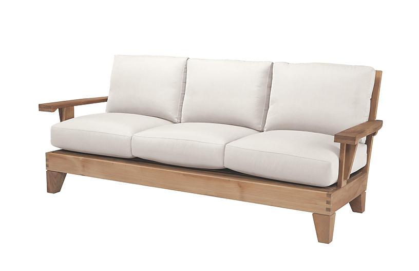Saranac Sofa, Natural Sunbrella
