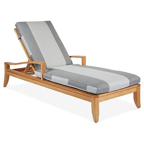 Saranac Chaise, Gray Sunbrella