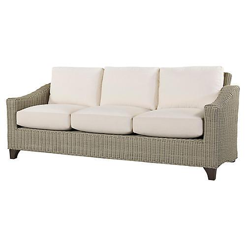 Requisite Sofa, Bone/Natural Sunbrella
