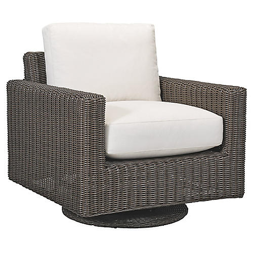 Fillmore Swivel Glider, Natural Sunbrella