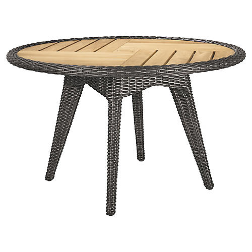 Cooper Round Dining Table, Natural/Brown