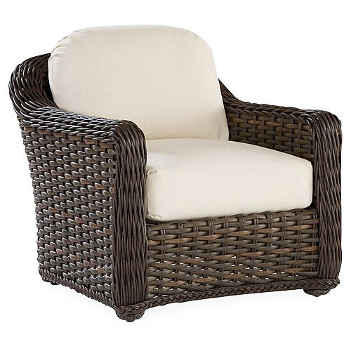 South Hampton Lounge Chair, Natural Sunbrella