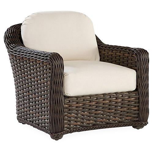 South Hampton Lounge Chair, Natural Sunbrella