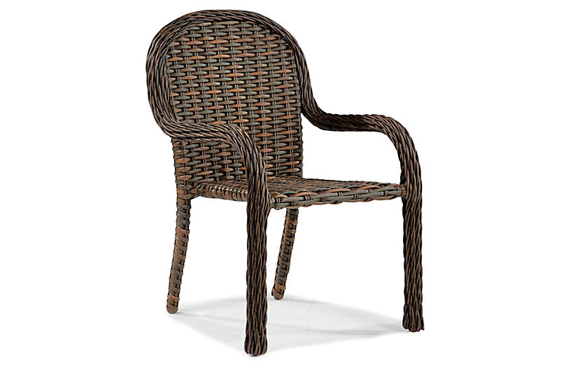 South Hampton Stackable Armchair, Tuscan Brown