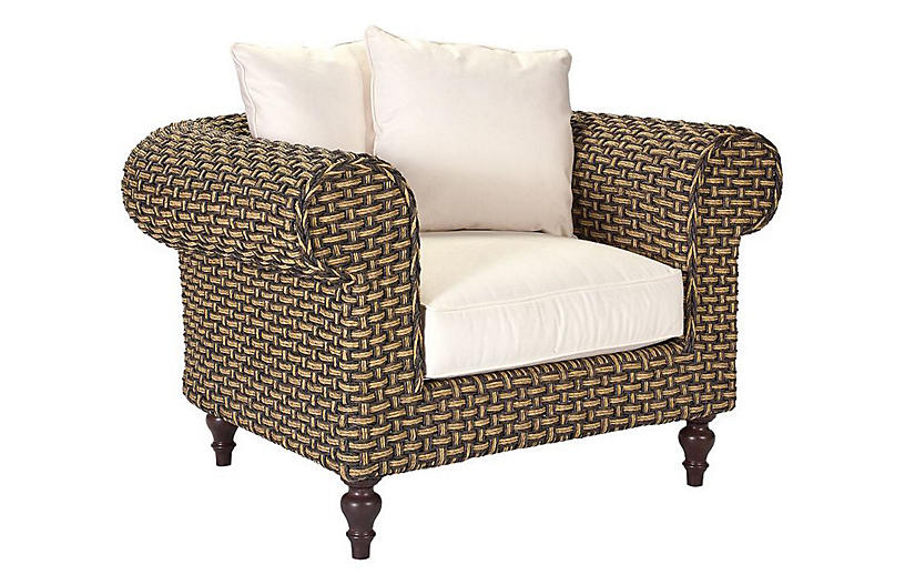 Hemingway Lounge Chair, Natural Sunbrella