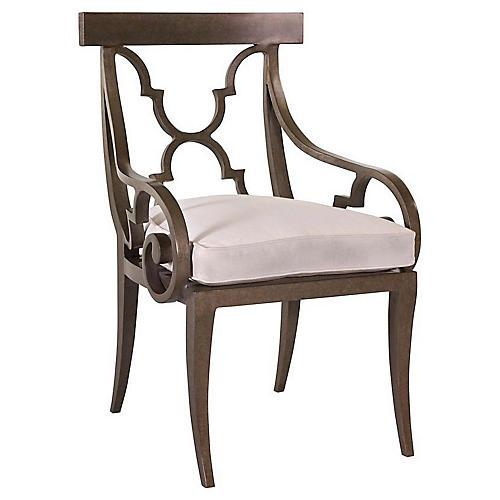 Hemingway Florentine Armchair, Natural Sunbrella