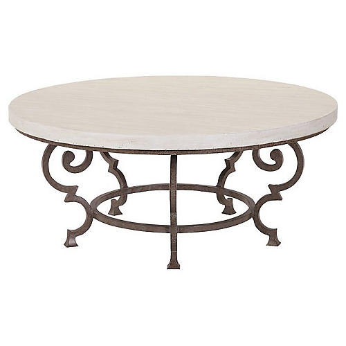 Hemingway Florentine Coffee Table, Ivory