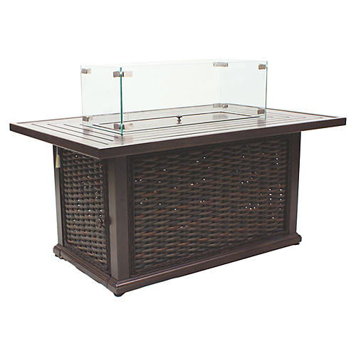 South Hampton Fire Pit, Brown
