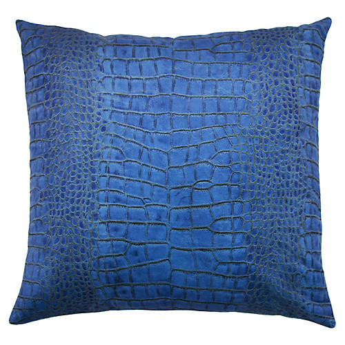 Ferris 22x22 Pillow, Cobalt