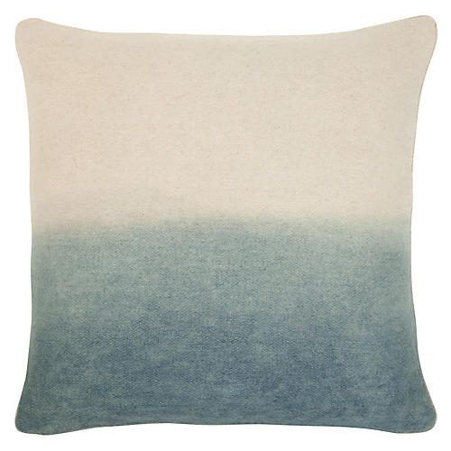 Jenkins 22x22 Pillow, Gray/Ivory