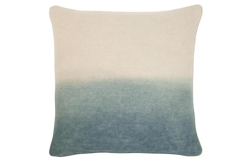Jenkins 22x22 Pillow, Gray/Ivory