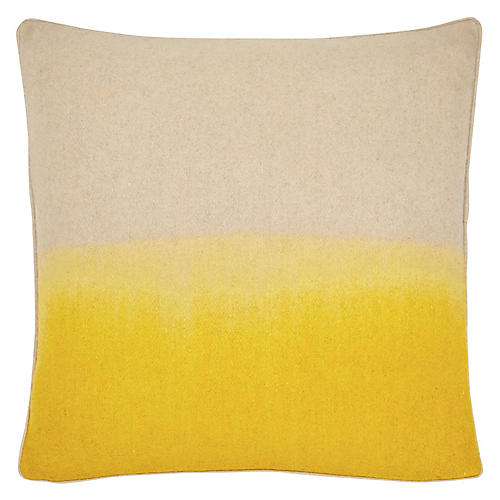 Jenkins 22x22 Pillow, Yellow/Ivory